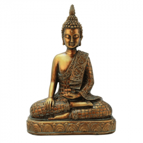 Statuette Bouddha Assis Resine