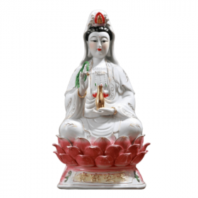 Statue Guanyin Assise