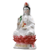 Statue Guanyin Assise Deco Interieure