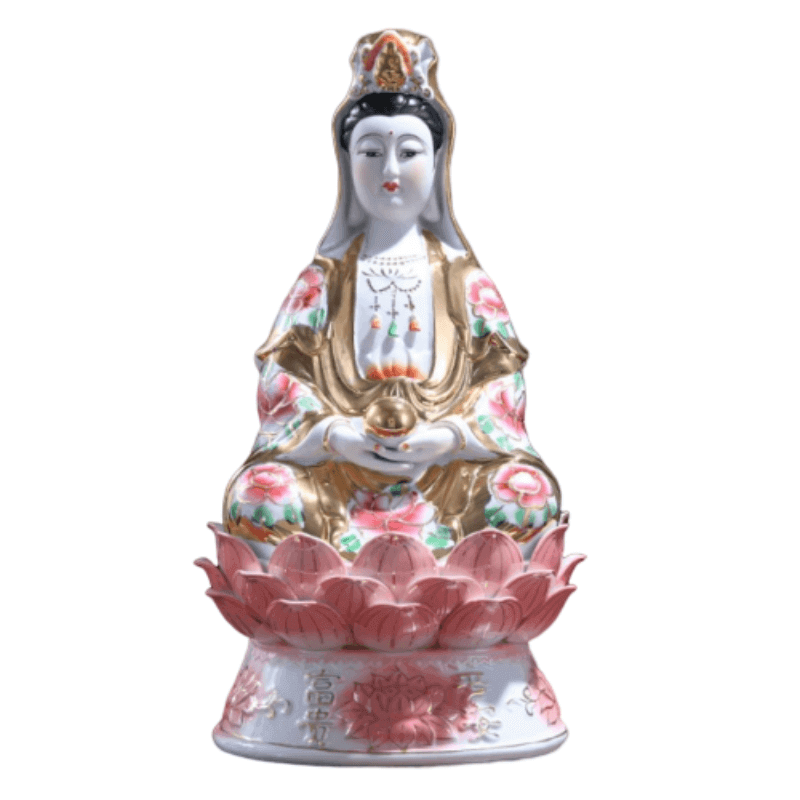 Statue Guanyin Position Lotus