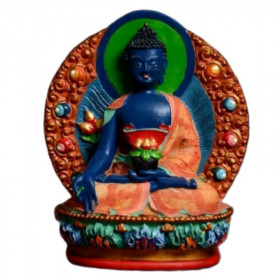 Statue Bouddha Assis Colore