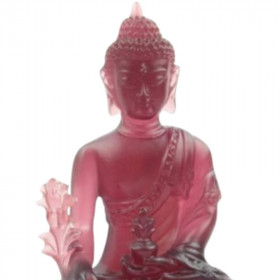 Statue Bouddha Assis Chakra Rouge Decoration Interieure
