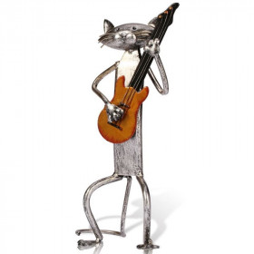 Statue de Chat Decoratif Guitare