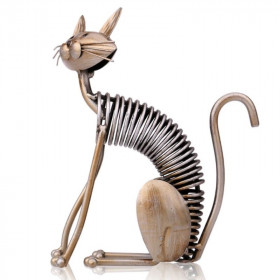 Statuette Chat Design Assis
